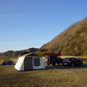 久慈川の河原でキャンプして、山登り&川下り