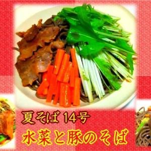 【夏そば14号】 水菜と豚肉