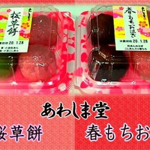 【あわしま堂】 春の和菓子 【桜草餅&春もちおはぎ】