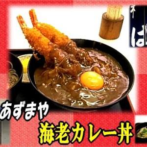 【あずまや】 カレー丼 【大きなエビフライ】