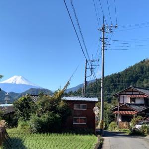 晴れたね〜アトリエ と富士山初冠雪