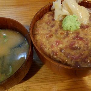 ナカオチとろろ丼、食欲も失せるビジュアル/東中野