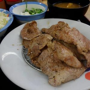 豚肩ロースの豚焼肉のW定食/落合