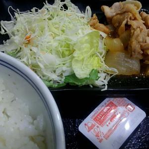 吉野家のしょうが焼き定食/東中野