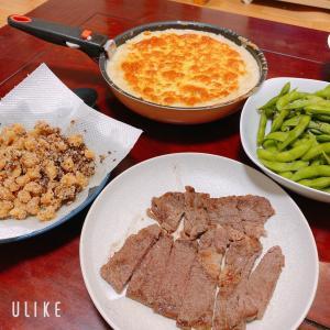 四連休初日の夕食(我が家はいつも通りの週末ですが)