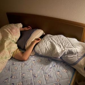 ベッドから落ちました。