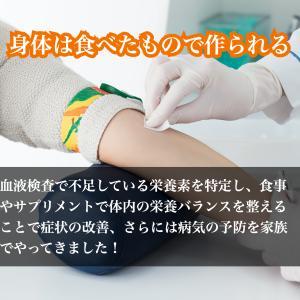 血液検査で不足している栄養素を特定しています