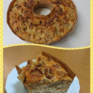 うちの奥さんが、ホットケーキミックスで作ったリンゴのケーキ第五弾!