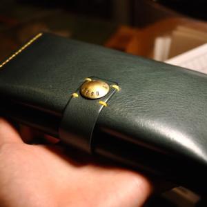 brass concha long wallet