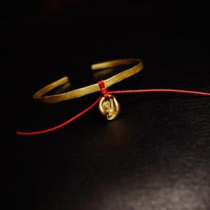 brass bangle + initial drop