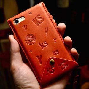 iphone SE leather case custom + hand strap