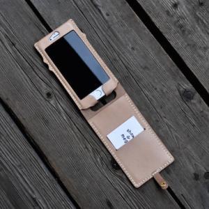 iphone SE leather case + flap