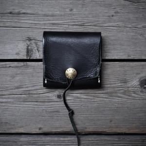 brass concha wallet