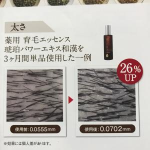 夏のシャンプーの後に薬用育毛エッセンスで太さ26%アップ