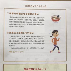 本日のお客様 健寿茶K型  血圧