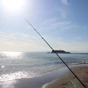 観光地で投げ釣り