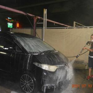 超久しぶりの ネオとの 洗車