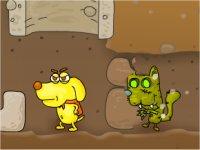 Zombie Cats/犬が猫ゾンビから逃げながら進んでいくアドベンチャーゲーム