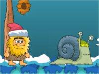 Adam and Eve: Snow/雪の世界を冒険する原始人のアドベンチャーゲーム