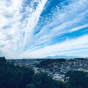 秋の雲になり富士山久々の御目見得。