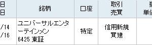 購入株(29)ユニバーサルエンターテインメント~噴火急落で購入