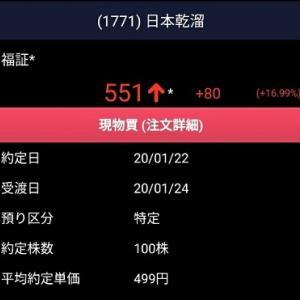 購入株(31)日本乾溜工業・巴コーポ~建築関連をPFに追加