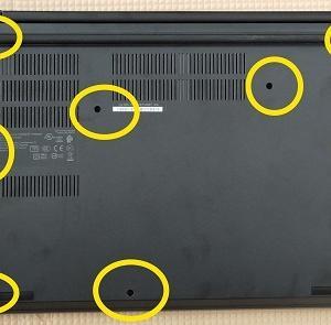 ThinkPad E495を買った後に行うパーツ交換方法