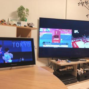 3画面でオリンピック