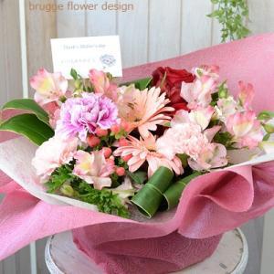 5月は母の月です。母の日に贈るアレンジメントピンク系 ご利用ありがとうございました。