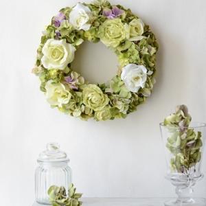 リースレッスンレポート お好きなお花でリースを作りましょう