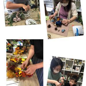 大人のハロウィンレッスン 親子のハロウィンレッスン お好きなお花で秋のレッスンしませんか。