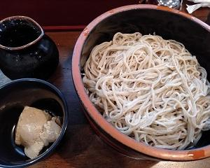 上田【信州蕎麦の草笛 上田お城前店】くるみ蕎麦+かき揚げ