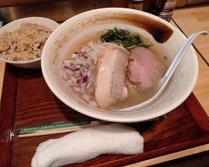 大宮【貝出汁らぁ麺 みぎわ】塩らぁ麺+貝めし(小)