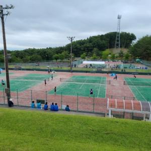 中総体ソフトテニス地区大会が終わりました