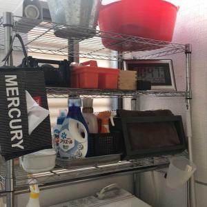 洗濯機ラックの整理