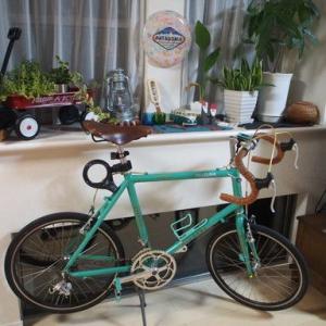 リビングに自転車