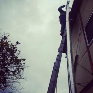 2019 2/22(金) 屋根にのぼる。