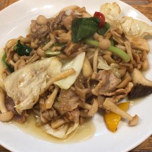 【食べ歩き】「四川飯店 菜温」豚とキノコのオイスターソース炒め :松山市