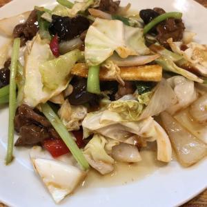 【食べ歩き】「四川飯店 菜温」牛肉と野菜のオイスターソース炒め:松山市