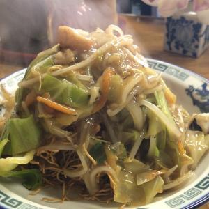 【食べ歩き】「びいどろ(大手町)」黒酢の皿うどん:松山市
