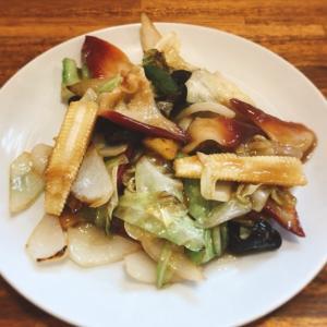 【食べ歩き】「四川飯店 菜温」北寄貝と野菜のニンニク醤油炒め:松山市