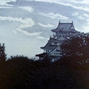 細密ボールペン画(大阪城)