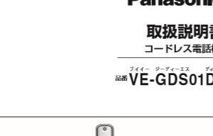 Panasonic /パナソニック コードレス電話機 VE-GDS01DL,充電台付親機 VE-GDS01,子機 KX-FKD402