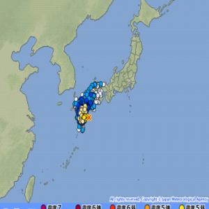 本日10日、日向灘にて震度5弱と震度3の地震が発生