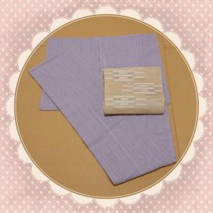 薄紫色の阿波しじら着物で茶道のお稽古☆