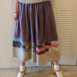 裾パッチスカーチョ