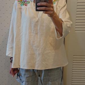 オーダー☆マチョー刺繍のブラウス