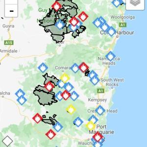 NSW州の山火事