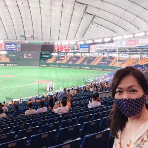 初東京ドーム‼️野球観戦‼️