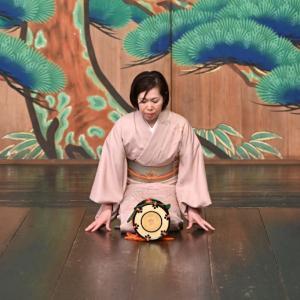 大倉流祖先祭の時のお写真を頂きました ~小鼓「三輪クセ」~